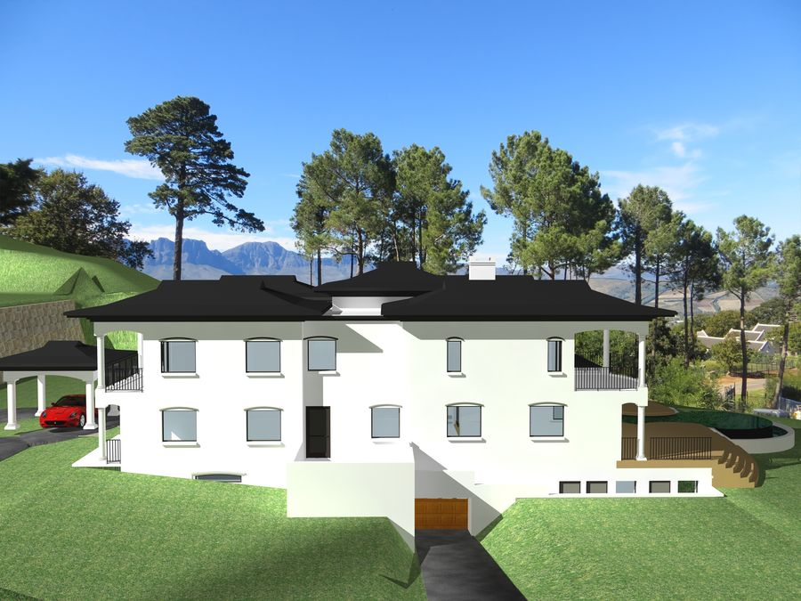 Architecture house 007 royalty-free 3d model - Preview no. 3