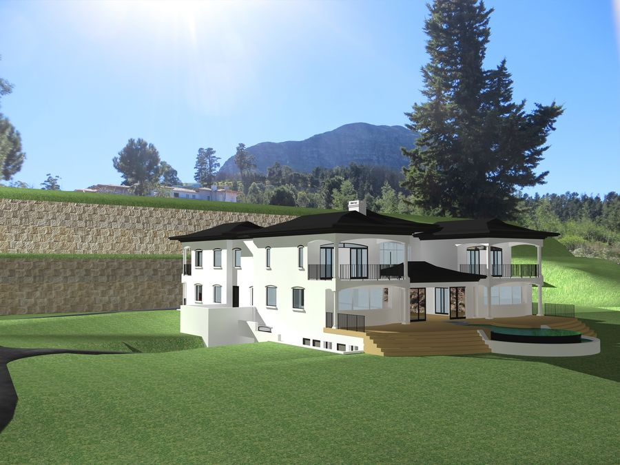 Architecture house 007 royalty-free 3d model - Preview no. 2