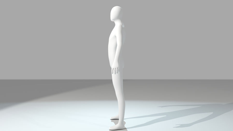 Humanoid Base Mesh royalty-free 3d model - Preview no. 6