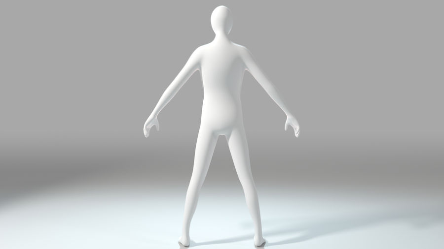 Humanoid Base Mesh royalty-free 3d model - Preview no. 4