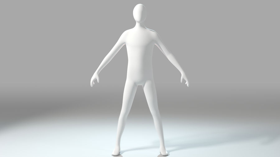 Humanoid Base Mesh royalty-free 3d model - Preview no. 2