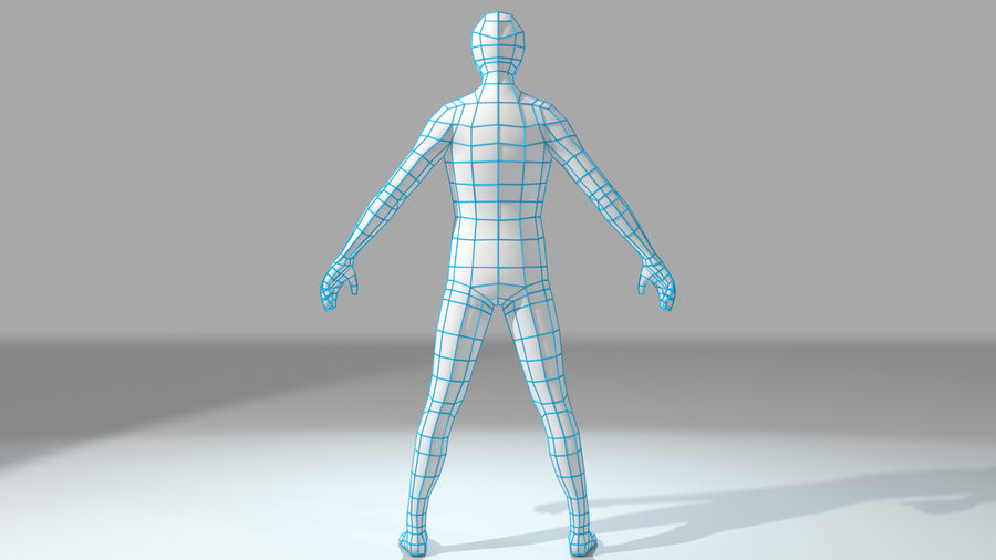 Humanoid Base Mesh royalty-free 3d model - Preview no. 5