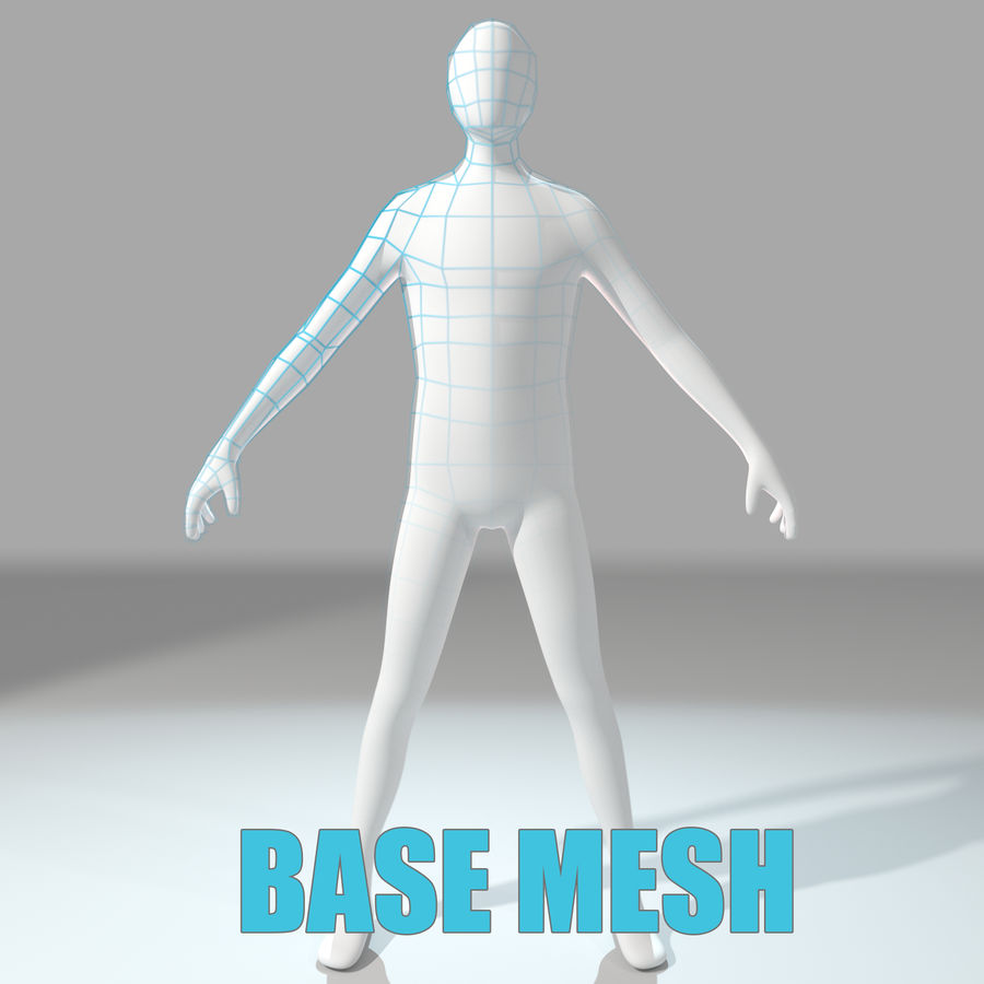 Humanoid Base Mesh royalty-free 3d model - Preview no. 1