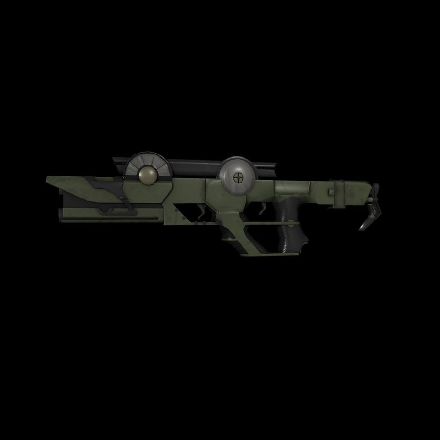 Sci-fi Concept Rifle royalty-free 3d model - Preview no. 2