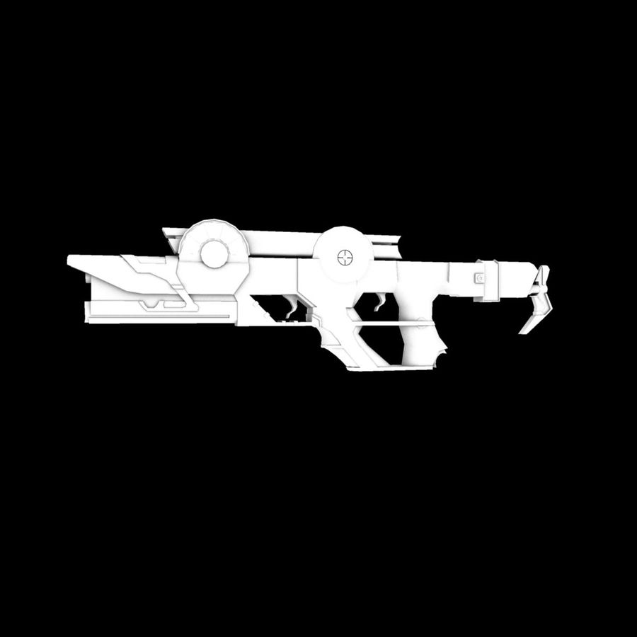 Sci-fi Concept Rifle royalty-free 3d model - Preview no. 3