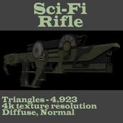 Sci-fi Concept Rifle 3d model