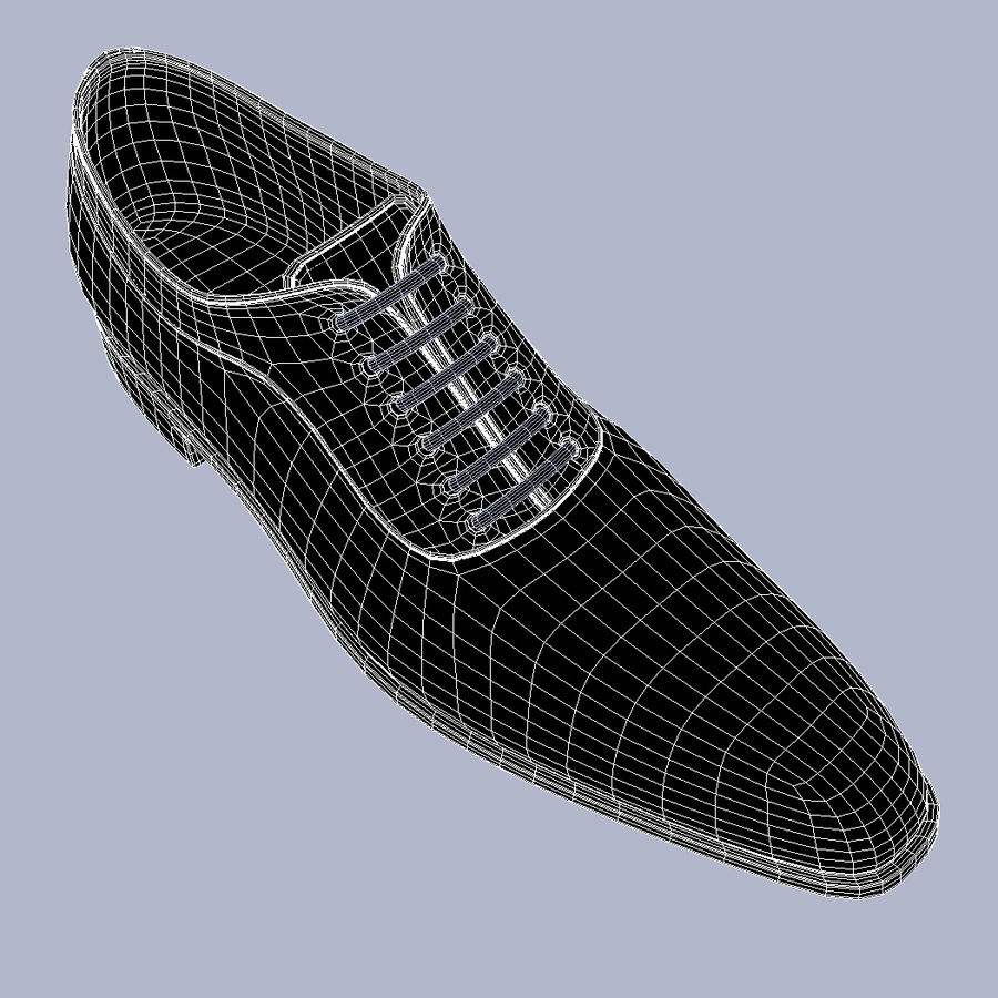 Men's Shoes High Res HD Leather V-Ray royalty-free 3d model - Preview no. 13