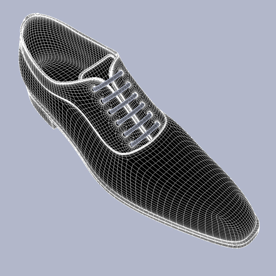 Men's Shoes High Res HD Leather V-Ray royalty-free 3d model - Preview no. 14