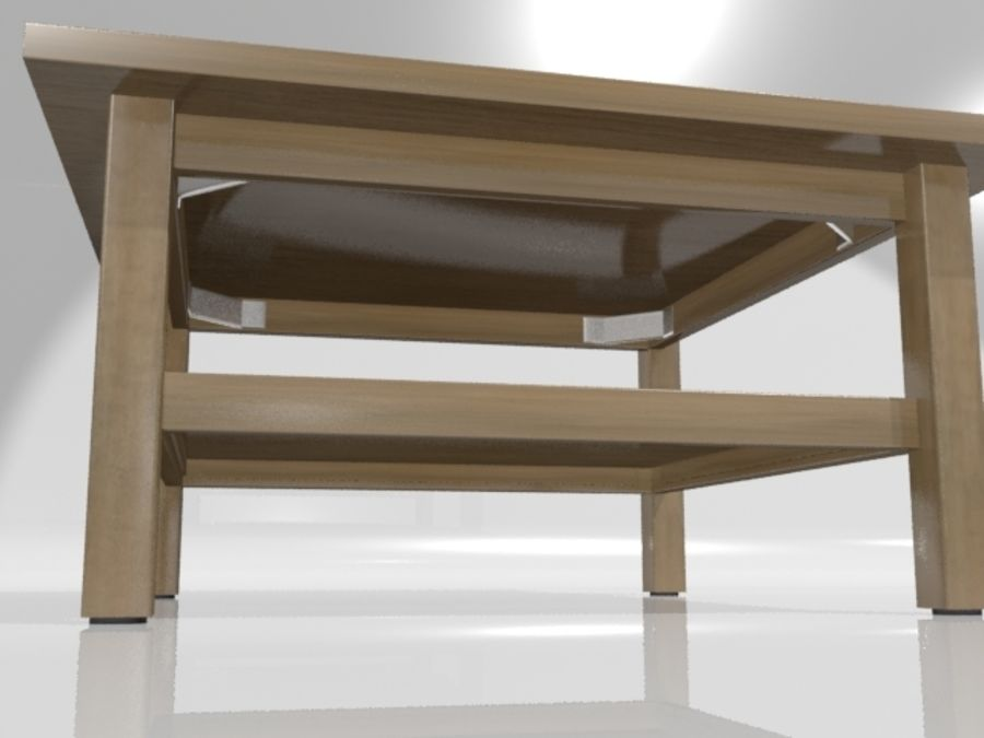 Ikea Hemnes Coffee Table (90 x 90 inch) royalty-free 3d model - Preview no. 4