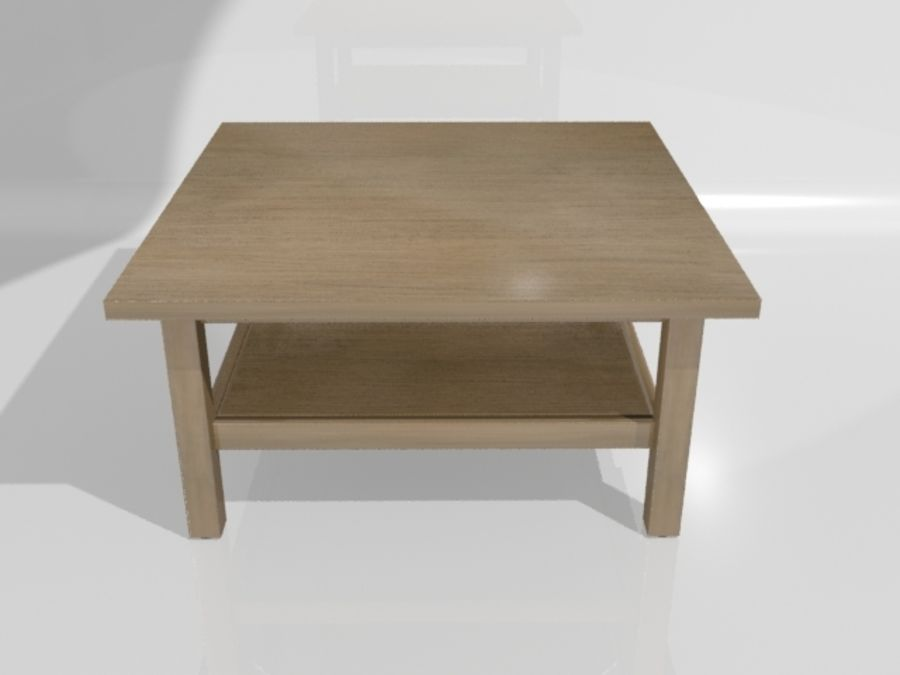 Ikea Hemnes Coffee Table (90 x 90 inch) royalty-free 3d model - Preview no. 3