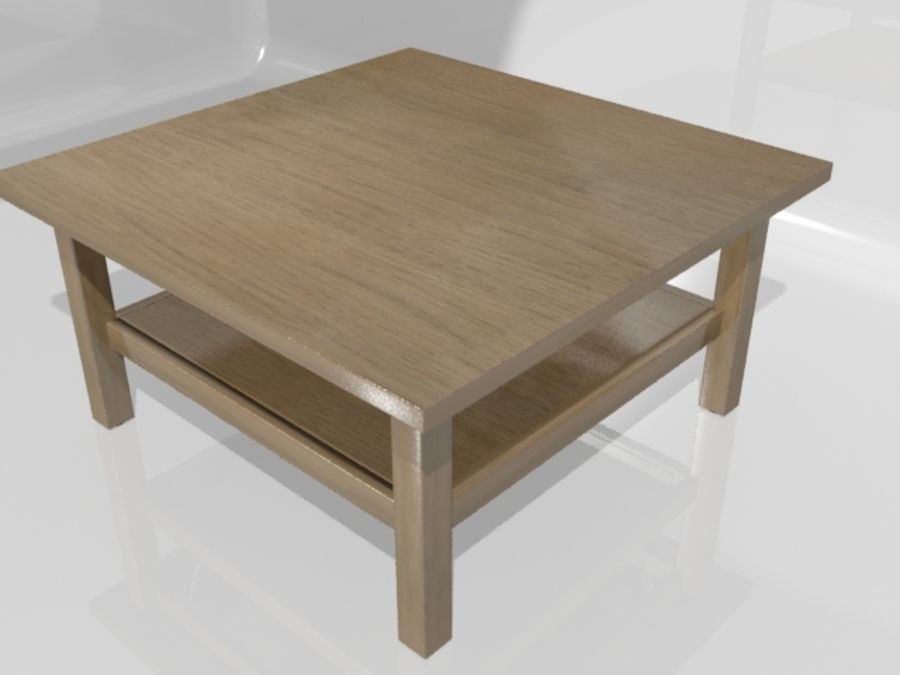Ikea Hemnes Coffee Table (90 x 90 inch) royalty-free 3d model - Preview no. 1