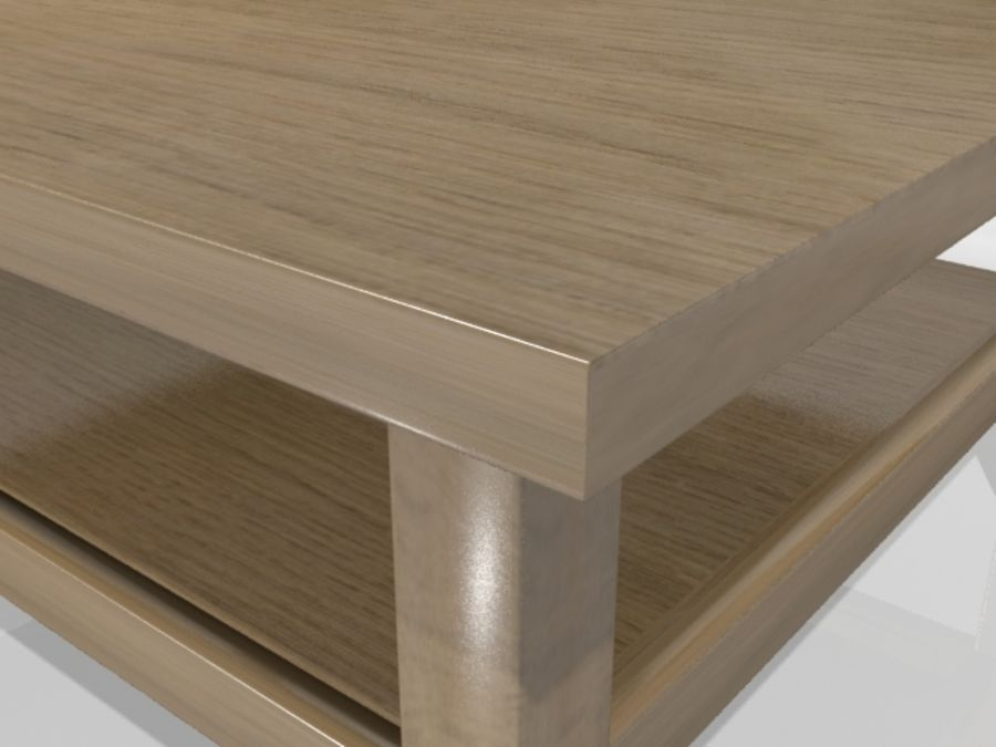 Ikea Hemnes Coffee Table (90 x 90 inch) royalty-free 3d model - Preview no. 2