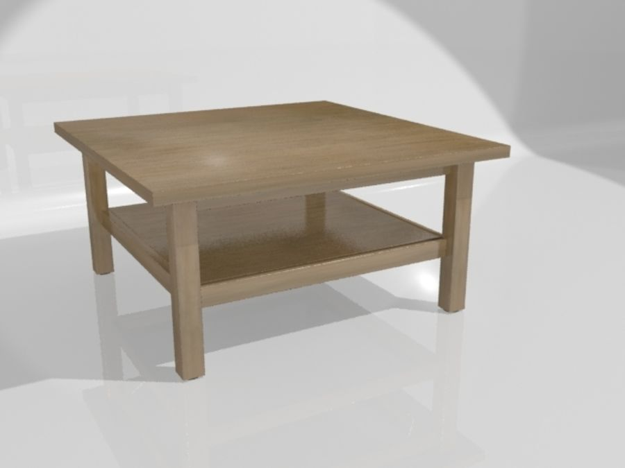 Ikea Hemnes Coffee Table (90 x 90 inch) royalty-free 3d model - Preview no. 6