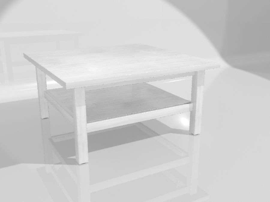 Ikea Hemnes Coffee Table (90 x 90 inch) royalty-free 3d model - Preview no. 8