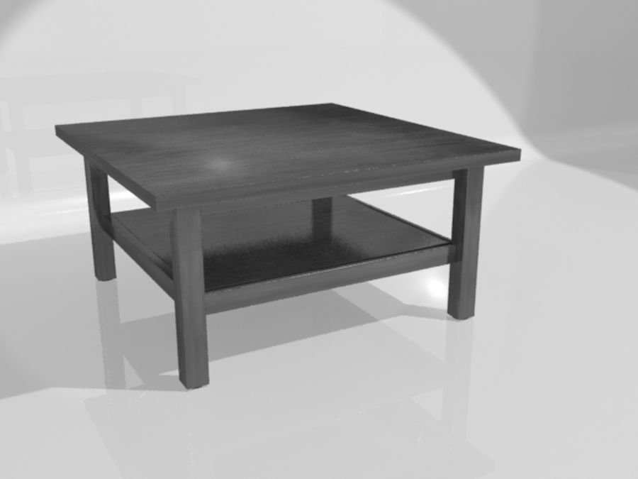 Ikea Hemnes Coffee Table (90 x 90 inch) royalty-free 3d model - Preview no. 7