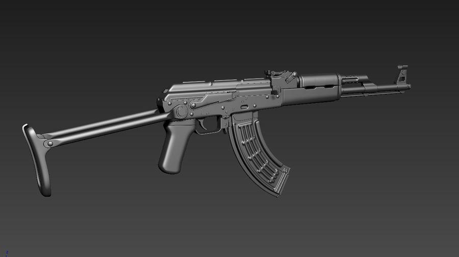 Fusil AKMS royalty-free 3d model - Preview no. 4