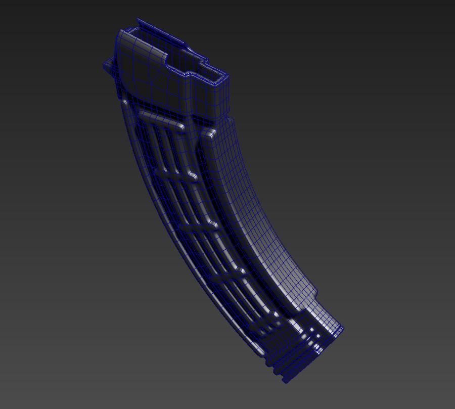 AKMS geweer royalty-free 3d model - Preview no. 7