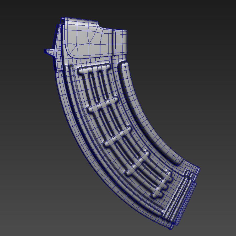 Fusil AKMS royalty-free 3d model - Preview no. 6