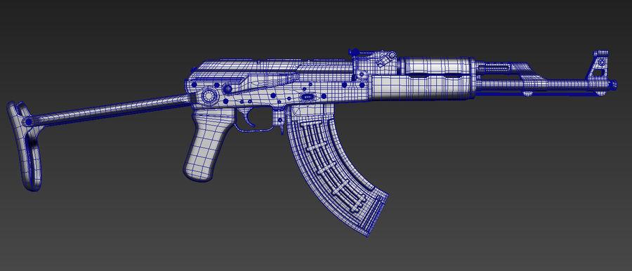 Fusil AKMS royalty-free 3d model - Preview no. 5