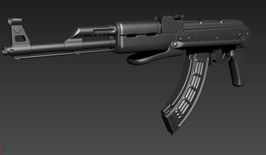 Fusil AKMS royalty-free 3d model - Preview no. 3