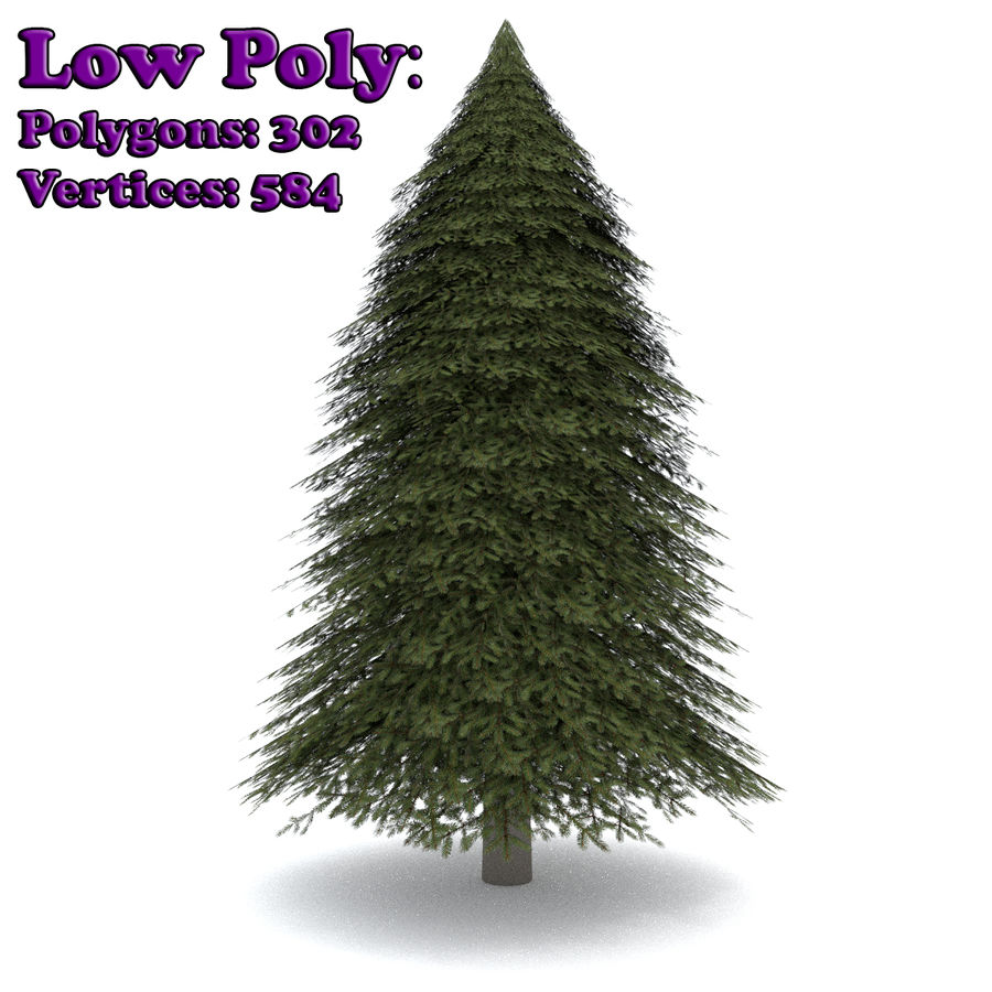 Fir Tree 1 Low Poly royalty-free 3d model - Preview no. 1