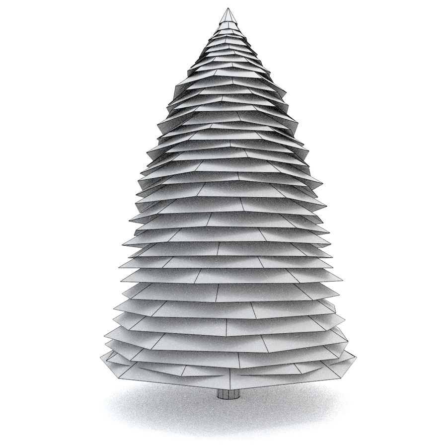 Fir Tree 1 Low Poly royalty-free 3d model - Preview no. 3