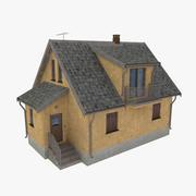 Cottage two orange 3d model