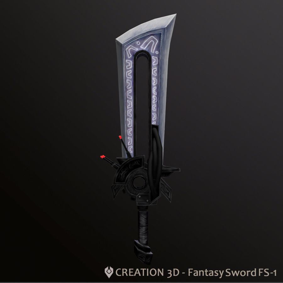 Fantasy Steampunk Sci fi Giant Sword royalty-free 3d model - Preview no. 4