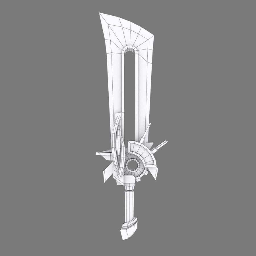 Fantasy Steampunk Sci fi Giant Sword royalty-free 3d model - Preview no. 5