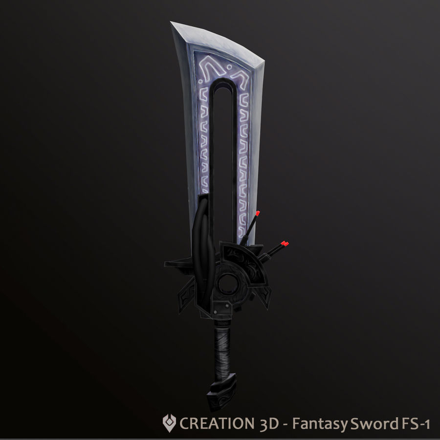 Fantasy Steampunk Sci fi Giant Sword royalty-free 3d model - Preview no. 1
