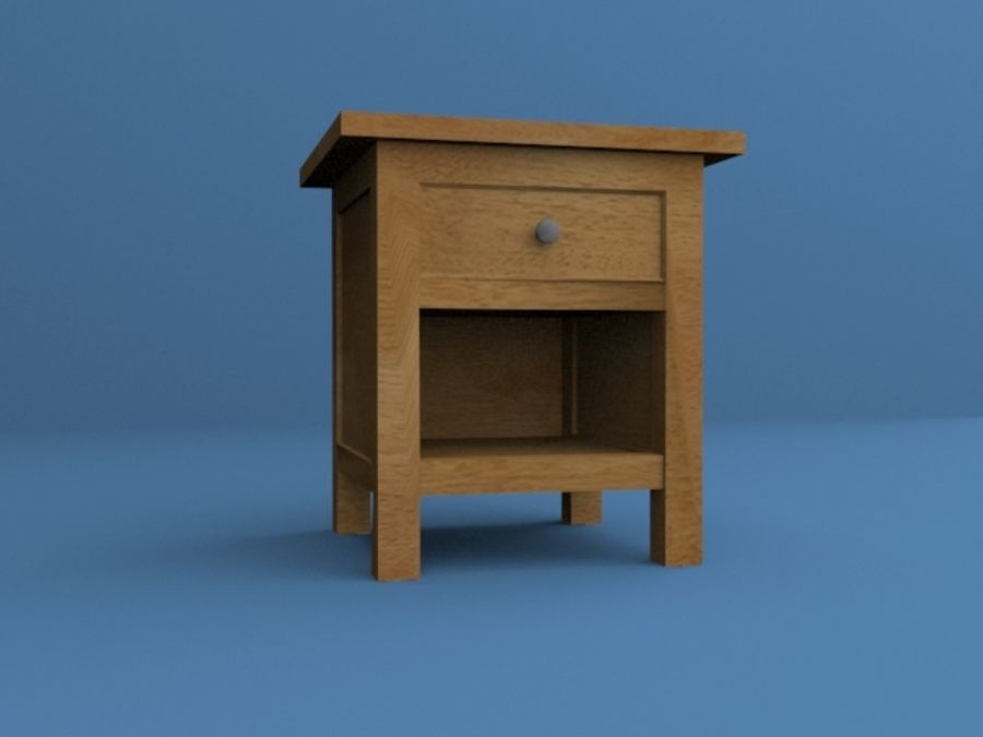 Nachttisch royalty-free 3d model - Preview no. 1