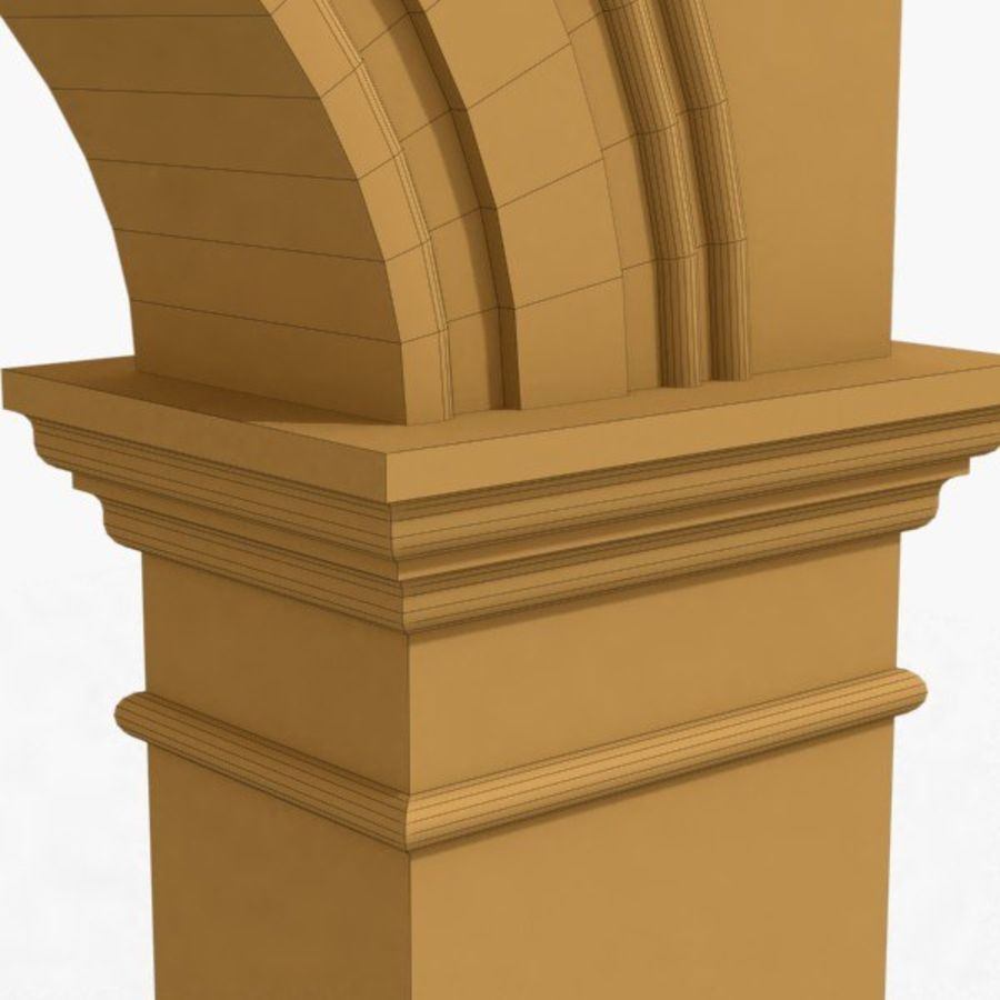 Arch 006 12ft - 1 royalty-free 3d model - Preview no. 6