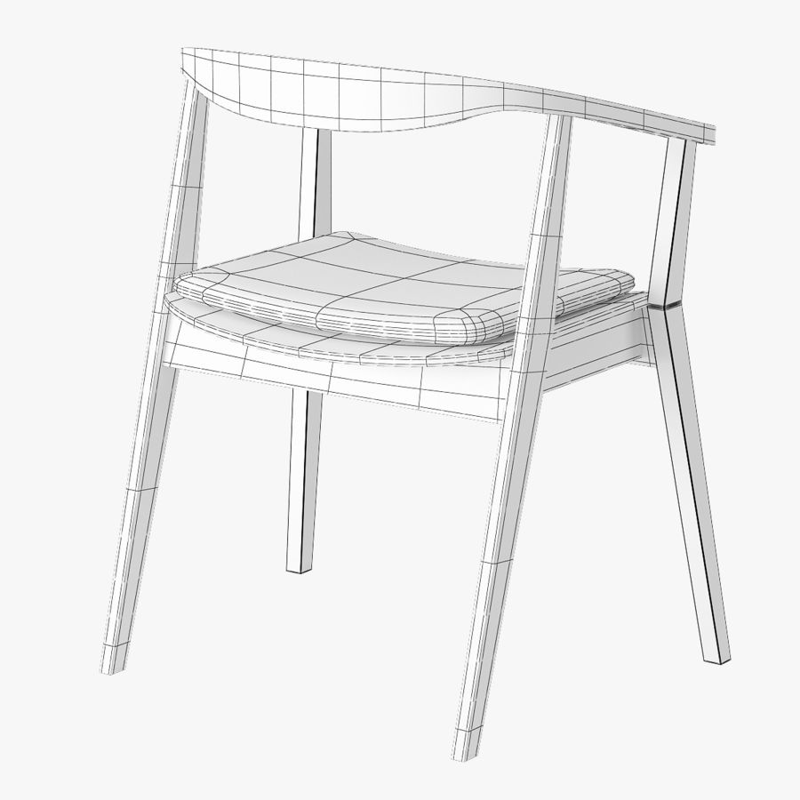 Ikea Stockholm Chair royalty-free 3d model - Preview no. 7