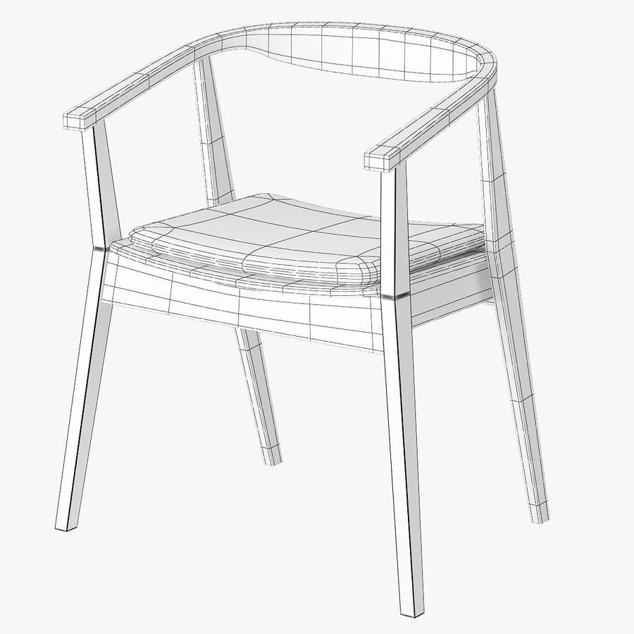 Ikea Stockholm Chair royalty-free 3d model - Preview no. 6