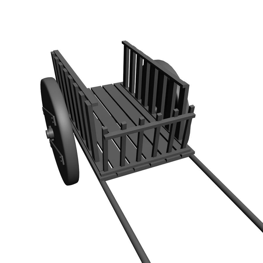 Vagão de Refugiados royalty-free 3d model - Preview no. 7
