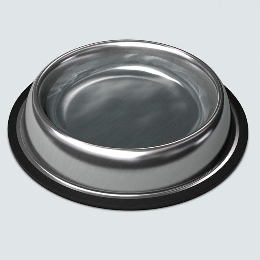 Bol pour animaux de compagnie avec de la nourriture royalty-free 3d model - Preview no. 4
