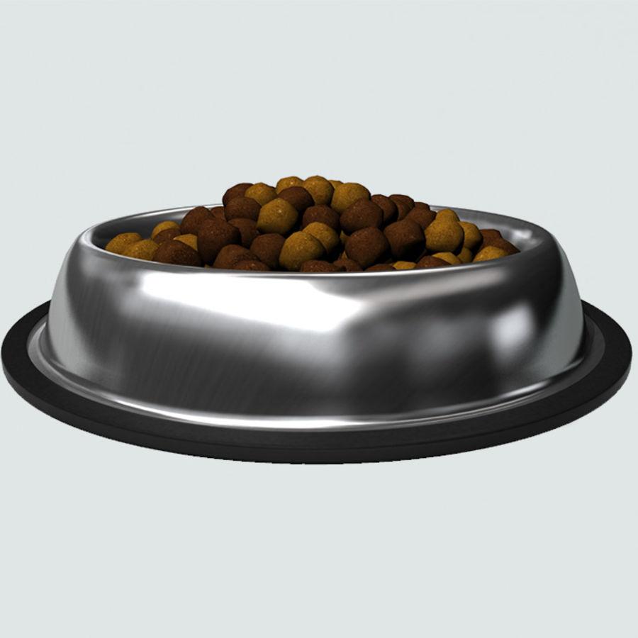 Bol pour animaux de compagnie avec de la nourriture royalty-free 3d model - Preview no. 5