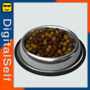 Pet Bowl With Food 3d model