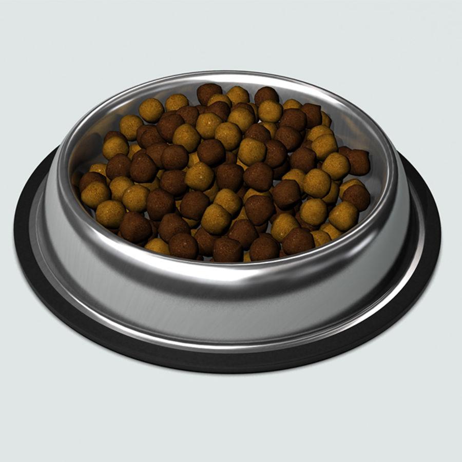 Bol pour animaux de compagnie avec de la nourriture royalty-free 3d model - Preview no. 2