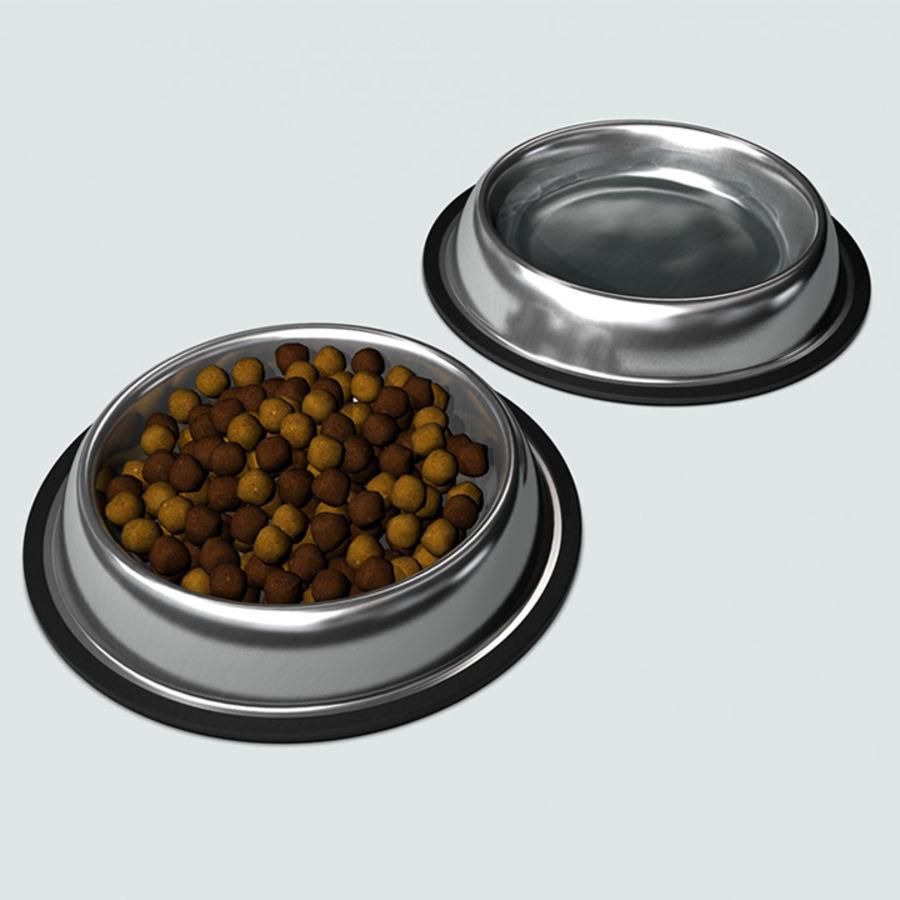 Bol pour animaux de compagnie avec de la nourriture royalty-free 3d model - Preview no. 9