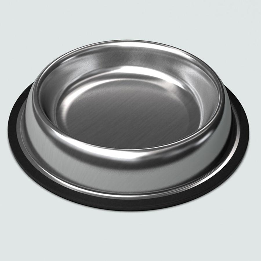 Bol pour animaux de compagnie avec de la nourriture royalty-free 3d model - Preview no. 7