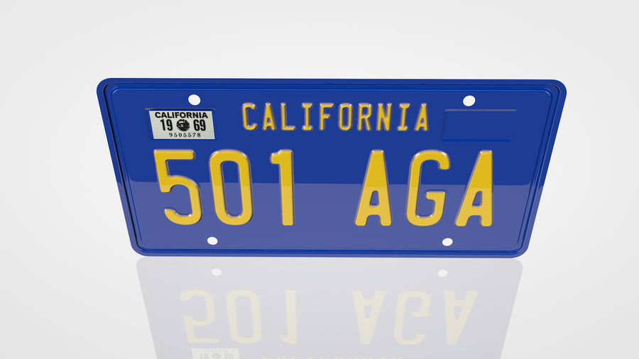 Placa do carro royalty-free 3d model - Preview no. 2