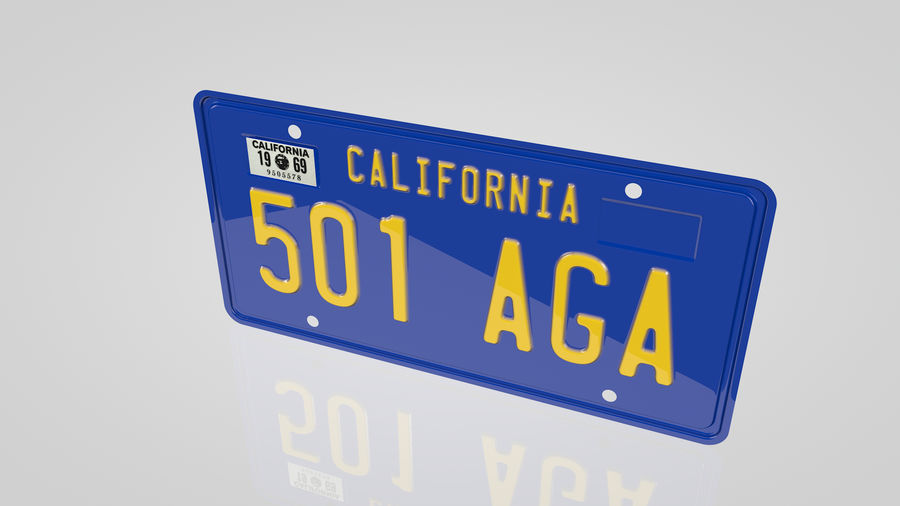 Placa do carro royalty-free 3d model - Preview no. 3