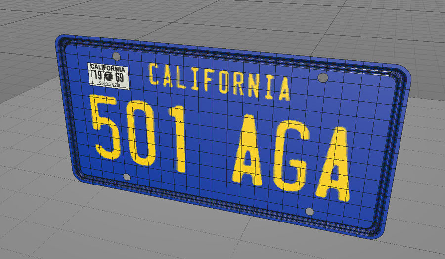 Placa do carro royalty-free 3d model - Preview no. 5