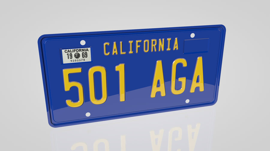 Placa do carro royalty-free 3d model - Preview no. 1