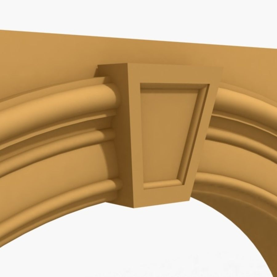 Arch 007 6ft - 2 royalty-free 3d model - Preview no. 3