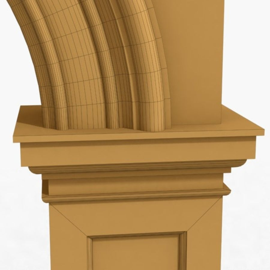 Arch 007 6ft - 2 royalty-free 3d model - Preview no. 6