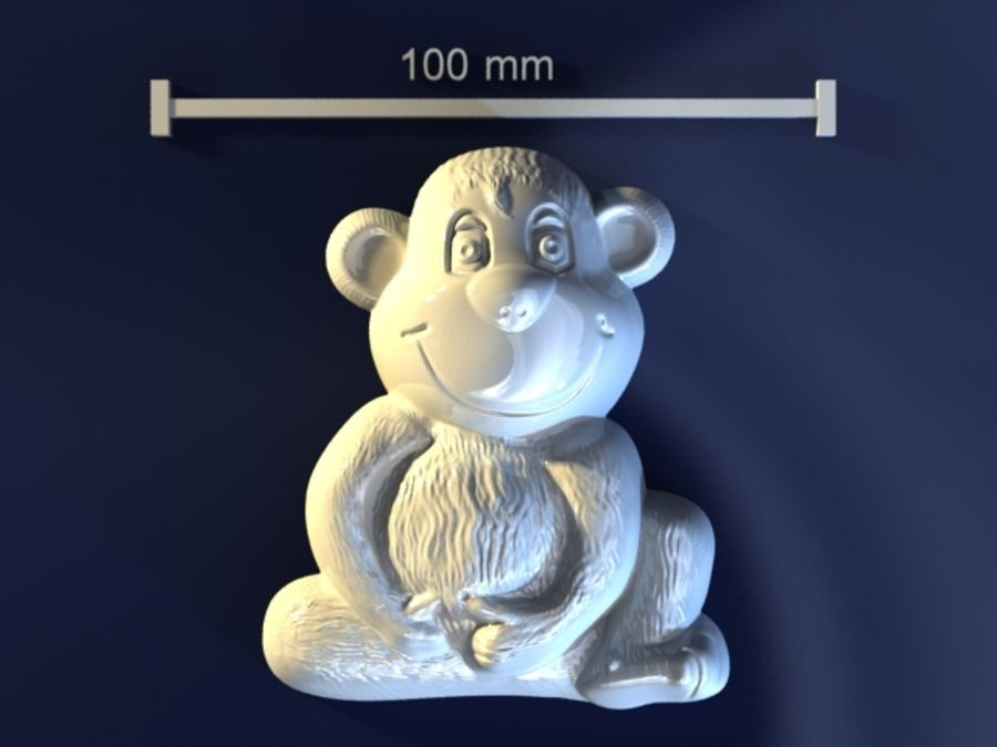 Macaco royalty-free 3d model - Preview no. 1