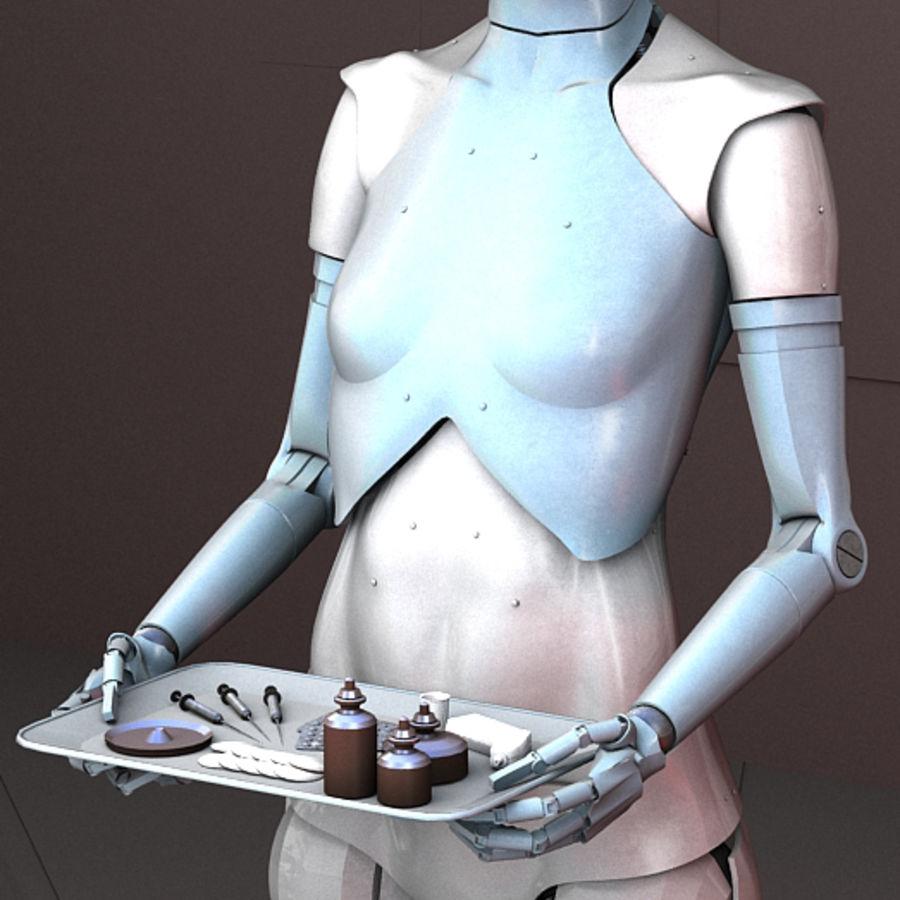 Robot d'assistance médicale royalty-free 3d model - Preview no. 3