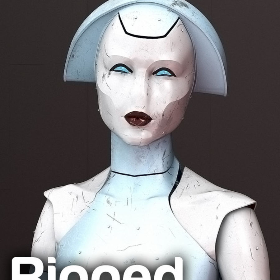 Robot d'assistance médicale royalty-free 3d model - Preview no. 1